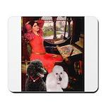Lady..2 Poodles (ST) Mousepad