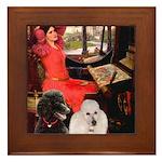 Lady..2 Poodles (ST) Framed Tile