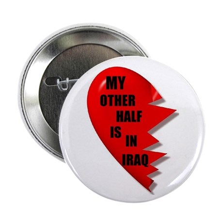 "MY OTHER HALF IRAQ 2.25"" Button (100 pack)"