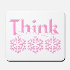 Think Snow Pink Mousepad