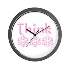 Think Snow Pink Wall Clock