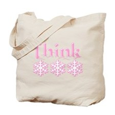 Think Snow Pink Tote Bag