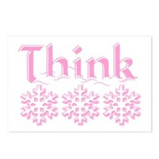 Think Snow Pink Postcards (Package of 8)