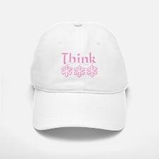 Think Snow Pink Baseball Baseball Cap
