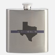 Back the Blue Texas Flask