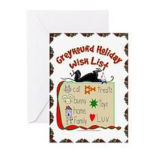 GREYHOUND HOLIDAY WISH LIST GREET CARDS (PKG 20)