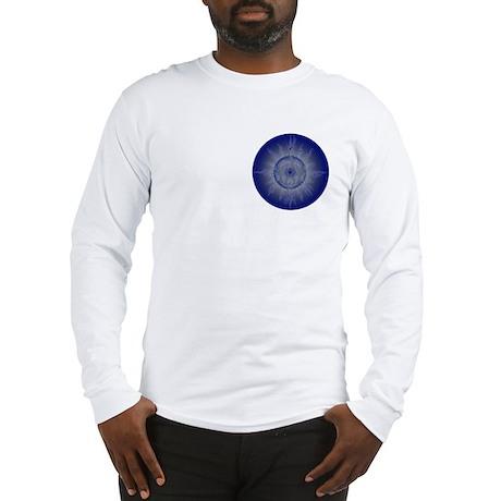 Blue Sun Mandala with Halo Long Sleeve T-Shirt
