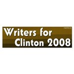 Writers for Clinton 2008 bumper sticker