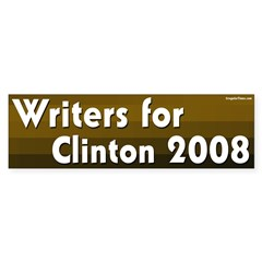 Writers for Clinton 2008 bumper sticker