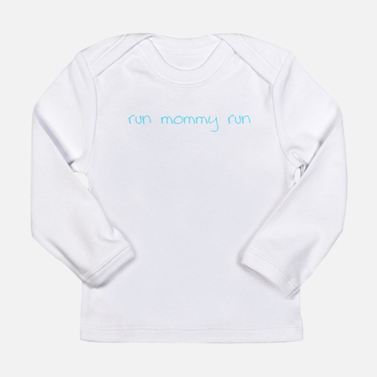 runmommyrun_blue Long Sleeve T-Shirt
