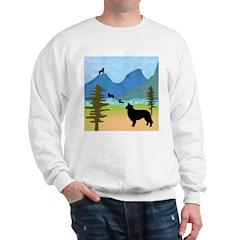 Wild Mountain Border Collies Sweatshirt