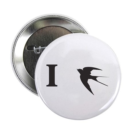 I Swallow in Black Pin Button