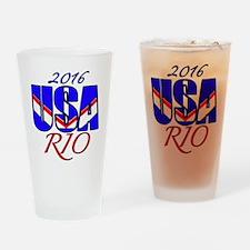 2016 USA RIO Drinking Glass