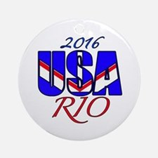 2016 USA RIO Round Ornament
