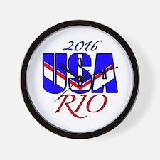 2016 USA RIO Wall Clock