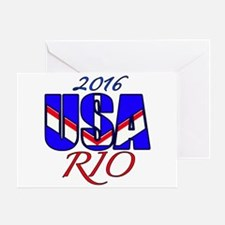 2016 USA RIO Greeting Card
