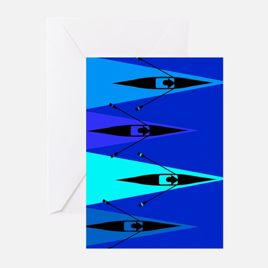 Rowing Boats Greeting Cards