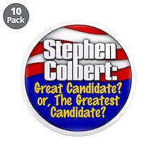 """Colbert '08 3.5"""" Button (10 pack)"""