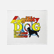 Flat-Coated Retriever Agility Throw Blanket