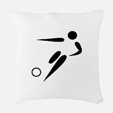 Team Soccer Woven Throw Pillow