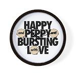 HAPPY & PEPPY & BURSTING W/ LOVE - Wall Clock