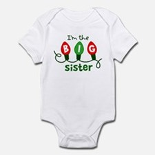 Big Sister Christmas lights Infant Bodysuit