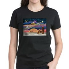Xmas Star/2 Airedales Tee