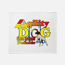 German Shorthair Agility Throw Blanket