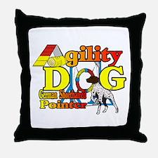 German Shorthair Agility Throw Pillow