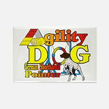 German Shorthair Agilit Rectangle Magnet (10 pack)