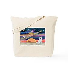 Xmas Star & Akita Tote Bag