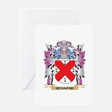Desmond Coat of Arms (Family Crest) Greeting Cards
