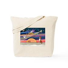 XmasStar/Basenji #2 Tote Bag