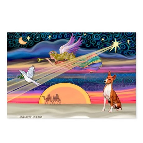 XmasStar/Basenji #2 Postcards (Package of 8)
