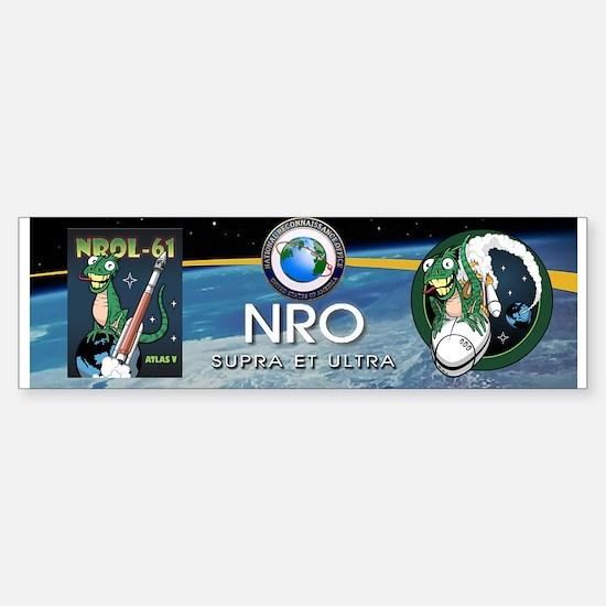NROL 61 Mission Art Sticker (Bumper)