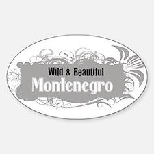 Wild Montenegro Oval Decal