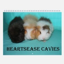 Heartease Cavies Wall Calendar