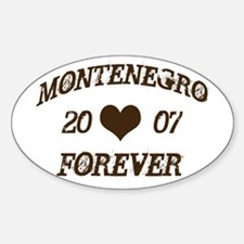 Montenegro Forever Oval Decal