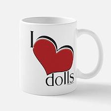 "I ""heart"" dolls Mug"