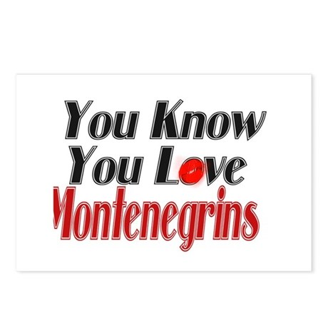 You love Montenegro Postcards (Package of 8)