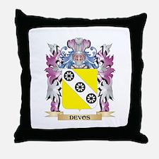 Devos Coat of Arms (Family Crest) Throw Pillow