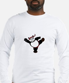 Martial Arts Panda Long Sleeve T-Shirt