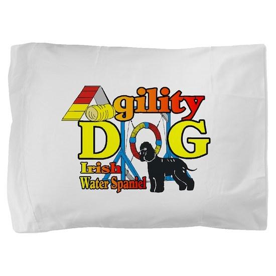 Irish Water Spaniel Agility Pillow Sham