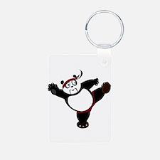 Martial Arts Panda Keychains