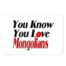 You know you love Mongolia Postcards (Package of 8