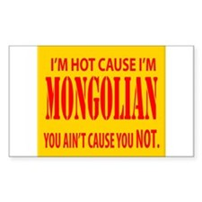 Hot Mongolian Rectangle Decal