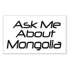 Ask Mongolia Rectangle Decal