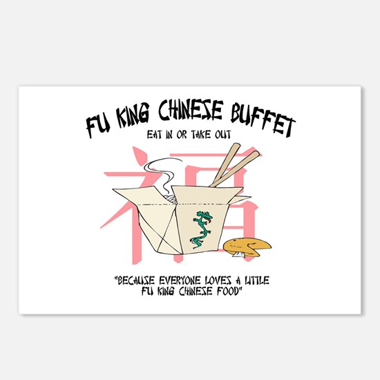 Fu King Chinese Buffet Postcards (Package of 8)