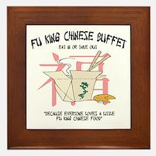 Fu King Chinese Buffet Framed Tile