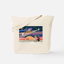 XmasStar/2 Cairn Terriers Tote Bag